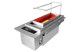 很久以前烧烤炉,火山石电烧烤炉,自动旋转烧烤炉,无烟烧烤炉 串越时光