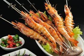烧烤配方:烤大虾
