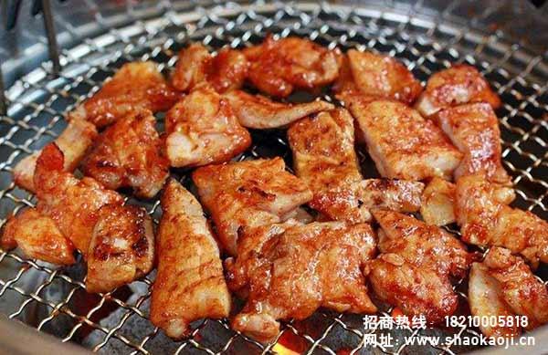 韩国烧烤  煎鸡肉