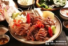 韩国烧烤:煎牛肉