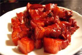 浙江杭州的传统名菜--一品南乳肉