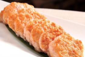 串烤虾饼的做法_串烤虾饼的步骤【食之秀烧烤技术】