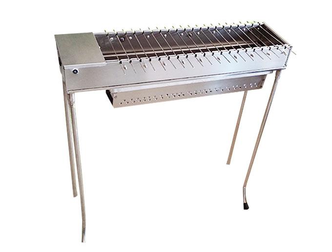 户外专用木炭自动翻转烧烤炉 多功能烤串炉 便携式户外烧烤