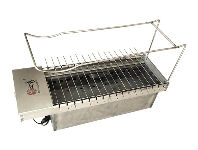食之秀17串单层木炭自动烧烤炉