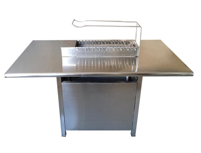 很久以前烧烤桌 |食之秀不锈钢烧烤桌椅批发