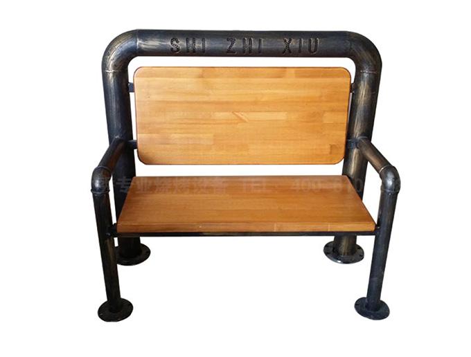 丰茂自动翻转烧烤炉专用桌椅|食之秀仿铜管椅