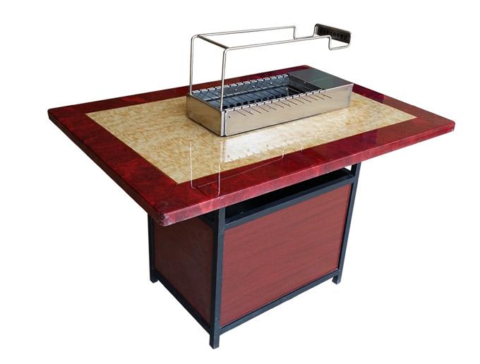 厂家直销烧烤桌 很久以前大理石烧烤桌 烧烤火锅桌订做