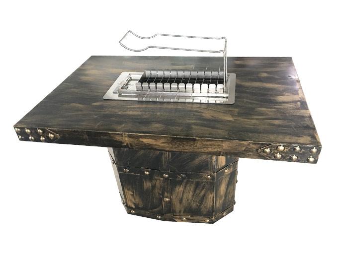 很久以前酒吧铁艺烧烤桌  烧烤桌椅定做加工
