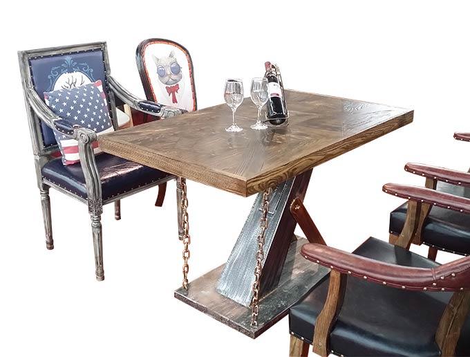 经典复古风格烧烤桌椅