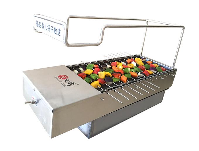 很久以前烧烤加盟店专用13串木炭自动翻转烧烤炉