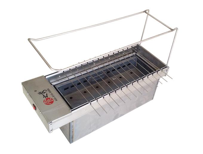 丰茂烧烤加盟店14串木炭烧烤炉 丰茂木炭自动翻转烧烤炉