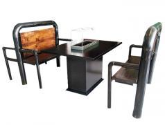 很久以前烧烤桌椅定做加工_黑金烤漆烧烤桌