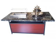 宝塔锅|烧烤桌|食之秀大理石火锅烧烤一体桌