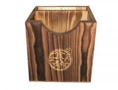多功能炭化实木加厚纸巾盒 纸巾盒