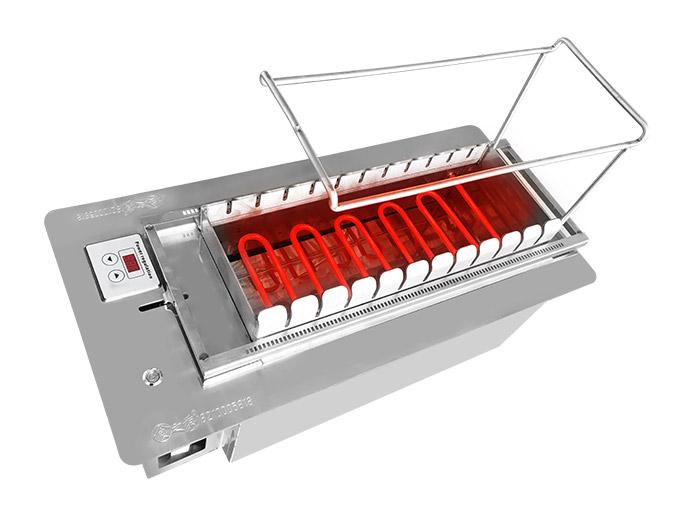 食之秀新黑晶管无烟自动电烤炉