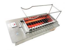 丰茂串城专用无烟电烤炉 全自动商用无烟自动翻转烧烤机