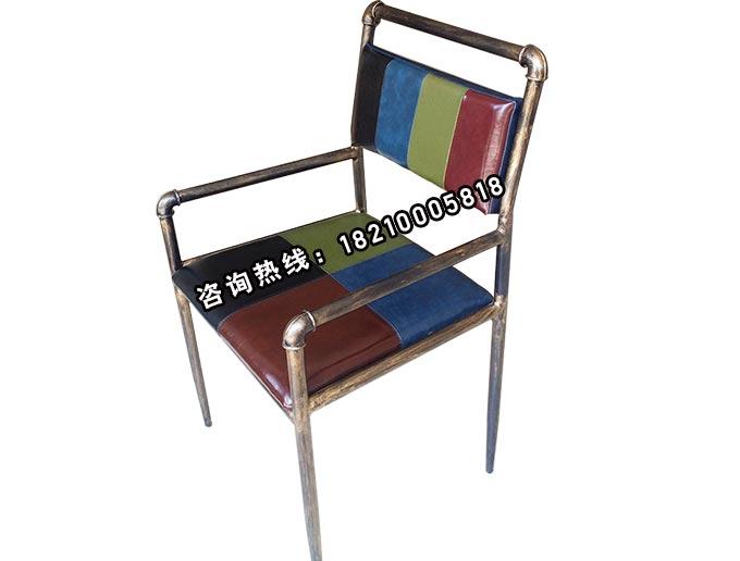 食之秀复古铁艺扶手椅
