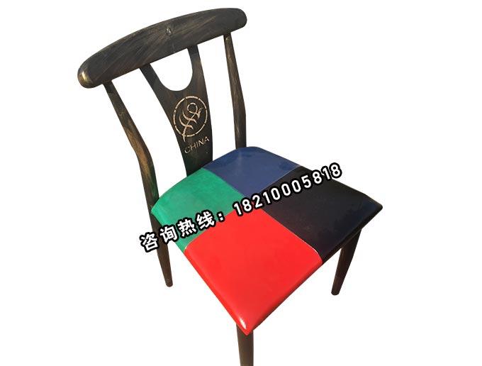 食之秀铁艺靠背单椅 串越时光专业烧烤桌椅批发定做
