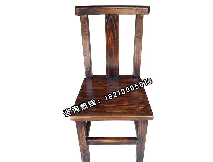 食之秀碳化木单椅 串越时光专业烧烤桌椅批发定做