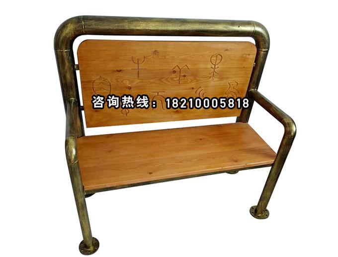 食之秀做旧仿铜管椅实木椅 烧烤桌椅定做加工