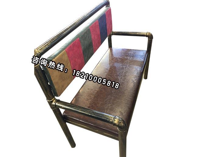 食之秀软包铁管长椅 串越时光专业烧烤桌椅定做加工