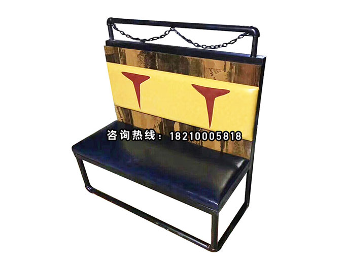 食之秀铁索靠背椅 烧烤桌椅定做加工