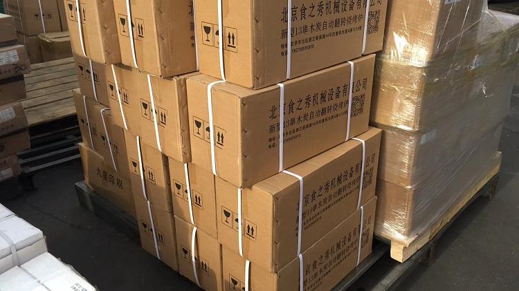 吉林公主岭张老板订购的28台很久以前木炭自动烧烤炉发货中