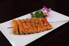 烤香菜卷的做法_烤豆腐香菜卷的做法