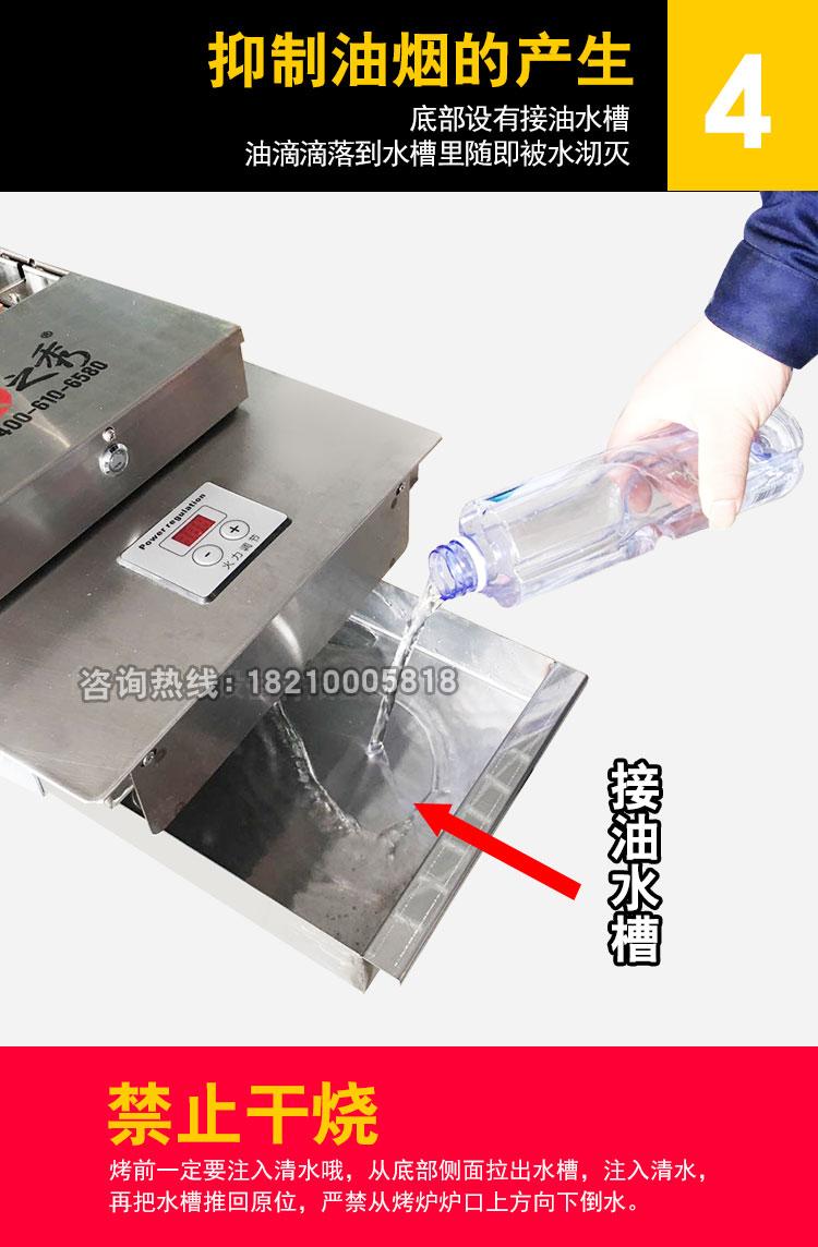 很久以前无烟自动电烤炉独特水槽设计 有效抑制油烟产生