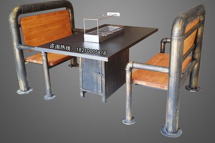 烧烤店桌椅定做厂家,食之秀仿铜管烧烤桌椅,烧烤桌椅定做加工