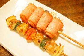 很久以前无烟烧烤炉烤番茄肉串和葱肉串味道怎么样?