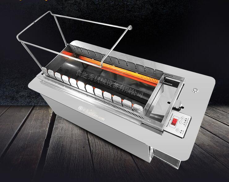 丰茂无烟自动旋转商用电烧烤炉图片
