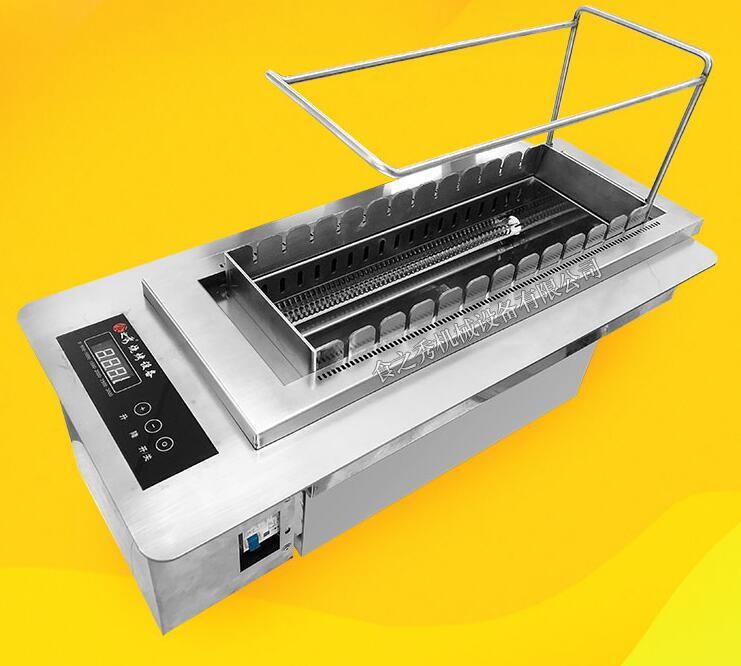 室内商用丰茂自动翻转电烤串机
