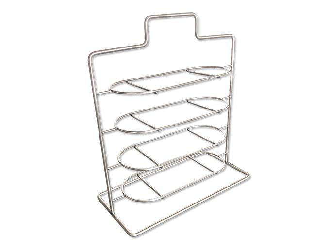 食之秀新款不锈钢加粗支架菜架子 可放椭圆串盘