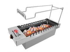 食之秀新款木炭自动烧烤炉 自助式烧烤店商用木炭自动烧烤炉