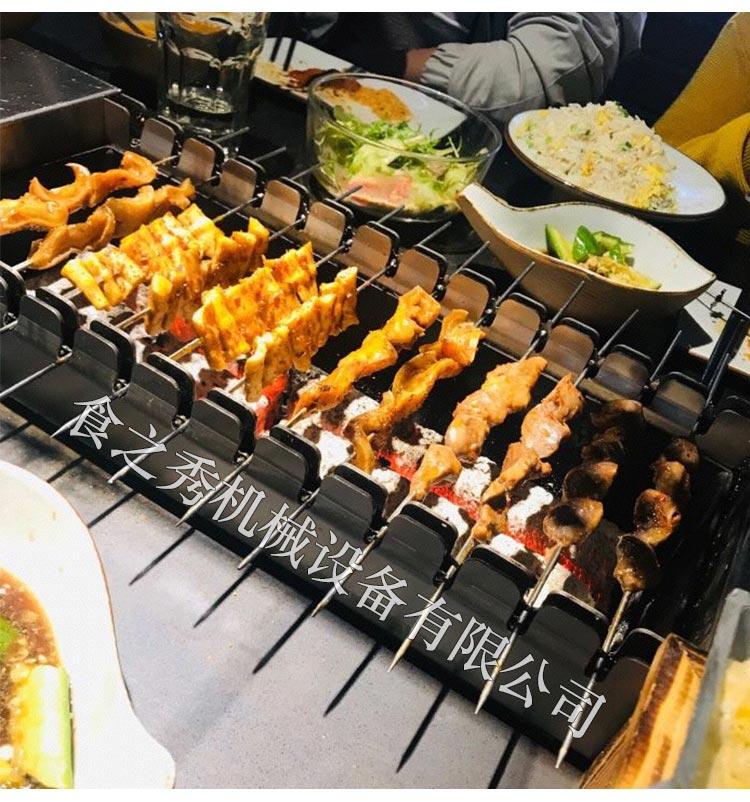 上海三个蒙古大叔烤羊肉串烤炉怎么买,食之秀无烟全自动翻转木炭烧烤炉,商用多功能碳烤炉
