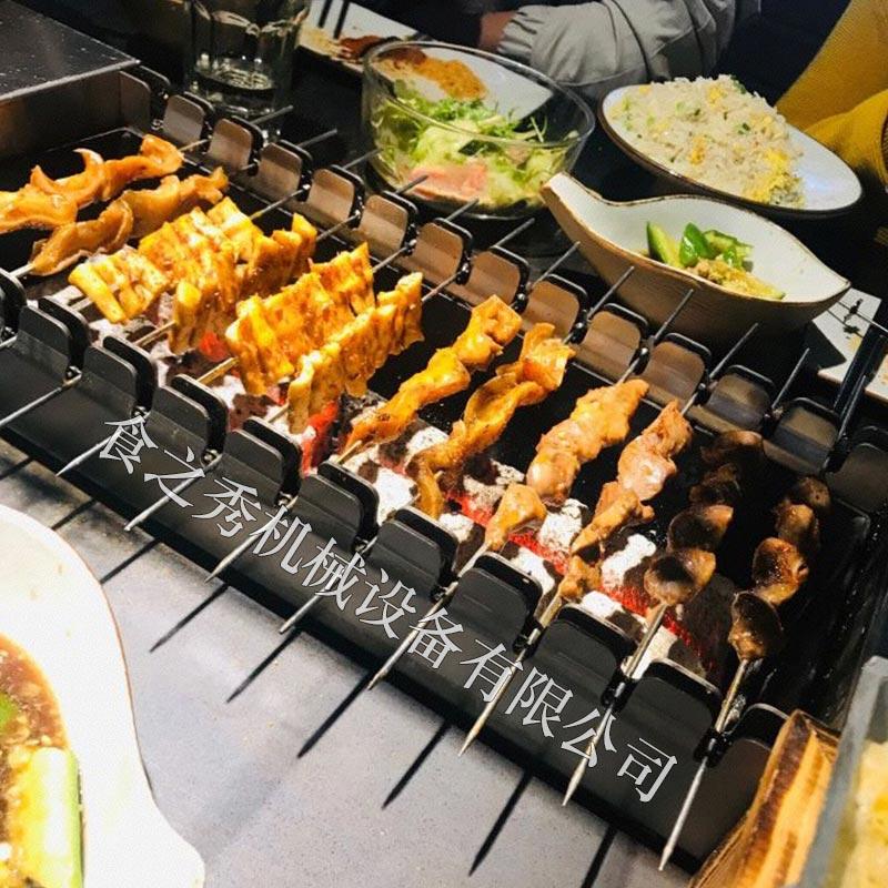 食之秀全自动旋转木炭烧烤炉子,很久以前木炭烧烤炉