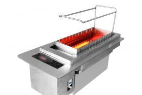 自动烧烤炉制作三丝敲鱼汤 鱼肉鲜嫩 色白汤清 香鲜可口
