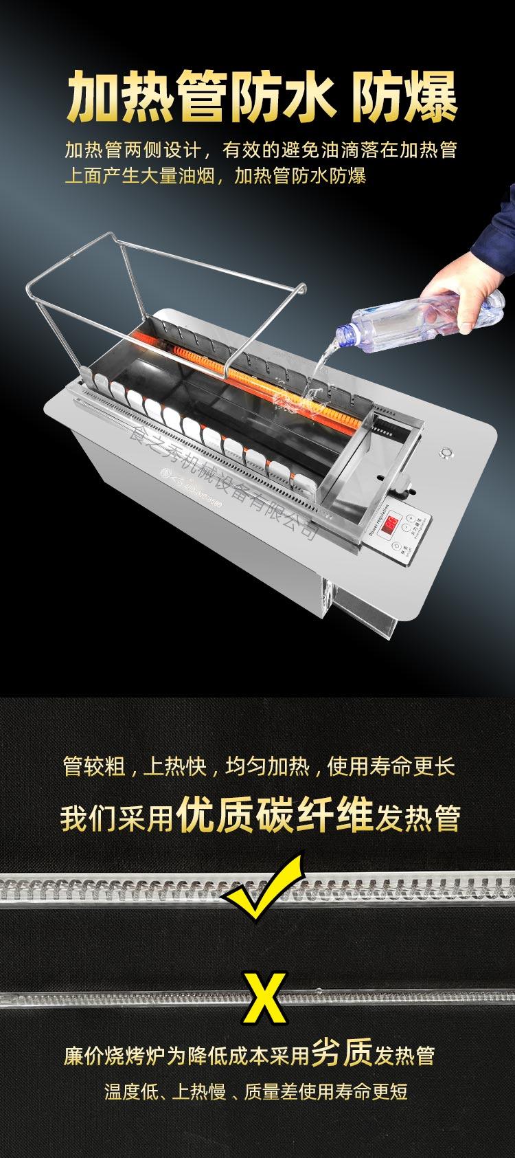 自动旋转电烤串炉,环保无烟电烤炉,商用无烟电烤炉