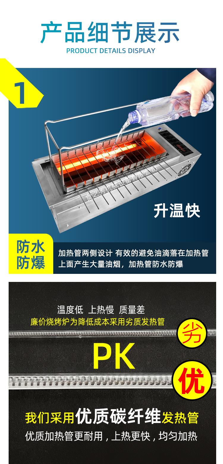 很久以前电烧烤架,自动旋转电烧烤炉,自动旋转电烤串炉