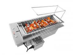 食之秀自动木炭烧烤炉 炭盆可升降 商用全自动翻转木炭烤串炉