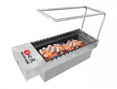 食之秀加粗支架自动旋转木炭烧烤炉 烧烤店商用木炭烤串炉 多功能木炭烤串炉