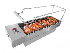 食之秀木炭自动烧烤炉 烤羊腿木炭烧烤炉 商用多功能木炭烧烤炉烤串炉子