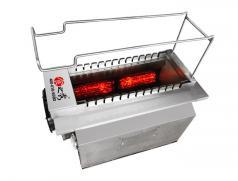 主题烤吧商用电烤炉 火山石自动电烧烤炉 全自动翻转火山石电烧烤炉烤串炉子