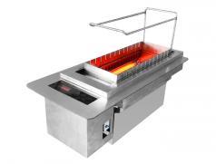食之秀新款触摸屏电烤炉 商用自动电烤炉 自动旋转电热烧烤炉