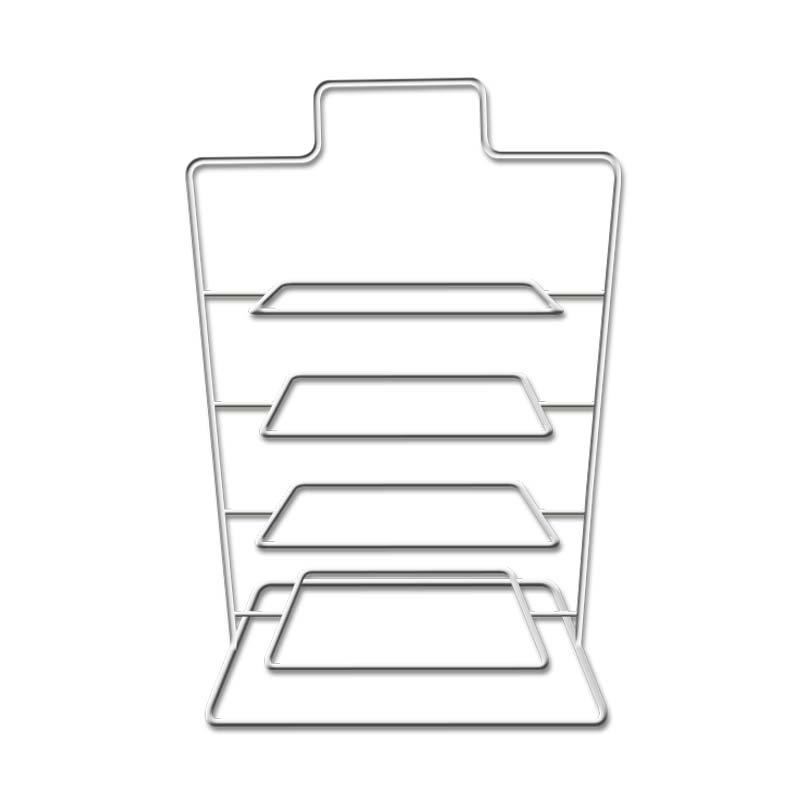 食之秀新款不锈钢加粗支架菜架子 菜盘架子 串盘架 托盘架
