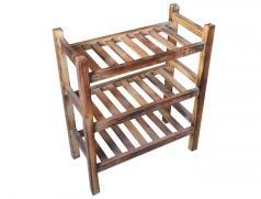 食之秀实木菜架子 多功能菜架子 实木置物架 木制菜架 托盘架