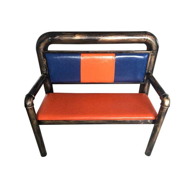 食之秀做旧仿铜管椅 软包创意烧烤桌椅 桌椅