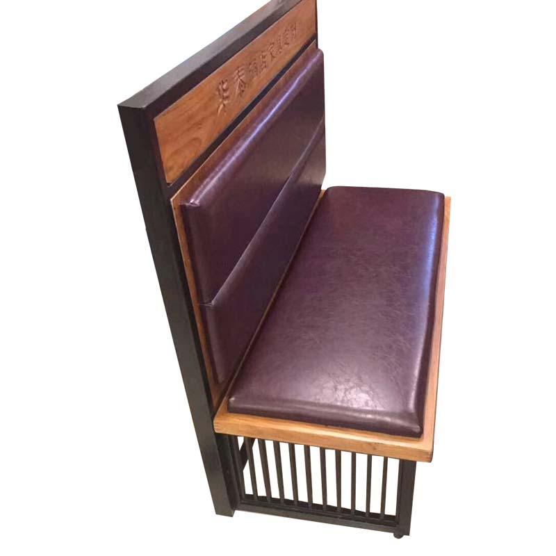 食之秀软包卡座 烧烤店创意软包靠背椅批发 烧烤桌椅定做加工
