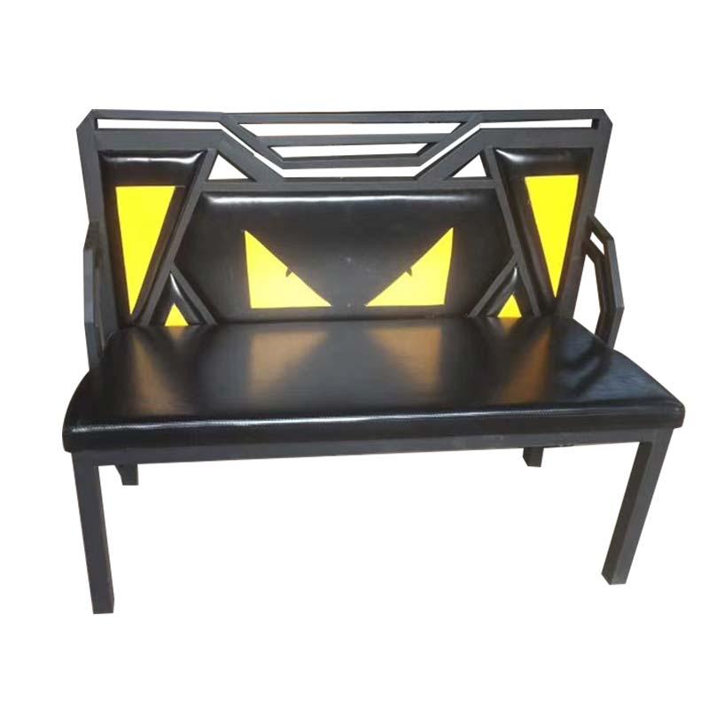 食之秀创意软包铁卡座 烧烤店专用烧烤桌椅批发定做